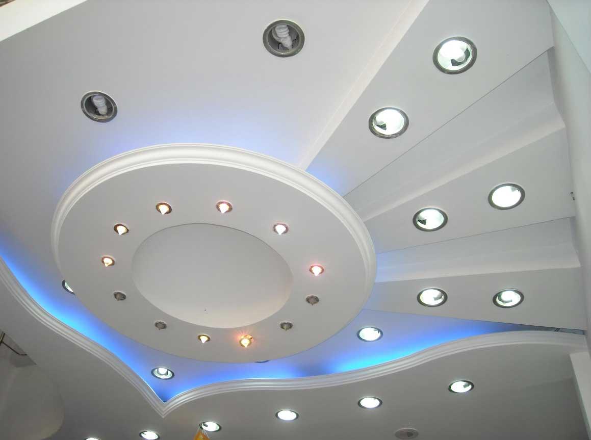 Разные красивые ГКЛ потолки в любых помещениях